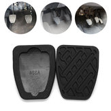Pair Rubber Car Brake Clutch Pedal Cover Non-Slip Pad for Nissan Qashqai