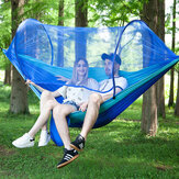 Double Person Hammock with Mosquito Net 70D Nylon Swing Bed Outdoor Camping Travel