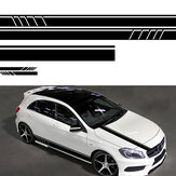 5pcs Universal Car Body Stripe DIY Sticker Decal Trim Side Hood Rear View Mirror Vinyl