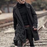 HerrPlusstorlekUllblandningDubbelsida Wearable Thicken Coat