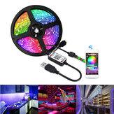 1/3 / 5M USB Waterpoof 5050 LED szalagfények RGB zenei háttérvilágítás bluetooth APP távoli karácsonyi díszek karácsonyi fények