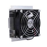 12V DIY Refrigerador termo-elétrico de refrigeração semicondutora Caso Ventilador DC sem escovas