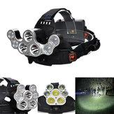 XANES2500LM3T6+4XPE4 Schaltermodi USB Lade 90 ° Drehung Weißlicht Verformung Fahrradlampe