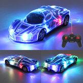 2403A 1/24 RC remoto Control Roadster Sports Auto Light Up Gioca veicoli con luce 3D per bambini Ragazzi Ragazze