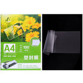 A4 Laminating Plastic Film 100 sets/pack 22*31cm Plastic Coated Paper Photo File Printing Plastic Film Supplies