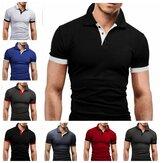 Camiseta masculina de polocollar de verão masculina manga curta casual roupas de secagem rápida corrida esportiva respirável top