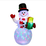 Christmas Inflatable Toys Large Snowman Inflatable Doll With LED Lighting Effect For Christmas Home Garden Party Decoration