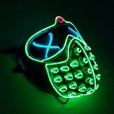 Led Rave Masks Glowing Party EL Mask Halloween Cosplay-Props Mask Men's Gift