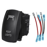 12V 24V with Cable Rocker Switch ON-OFF Dual Blue LED Light Bar Waterproof Car Boat Bus RV