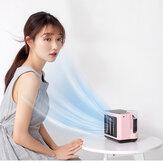 Tragbarer Negativionen-Klimaanlagenlüfter Luftbefeuchter und Luftreiniger Wasserkühlventilator USB-Lade-Desktop-Lüfter mit Nachtlicht