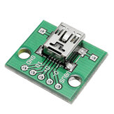 5 stuks USB naar DIP Female Head Mini-5P Patch om DIP 2,54mm Adapter Board te DIP
