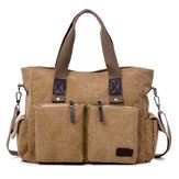 Large Capacity Men Women Canvas Multifunctionele Crossbody Zak Canvas Outdoor Handtas