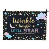Little Star Pano de Fundo Fotografia do chuveiro de bebê Fundo da bandeira do partido Cenários 150x100cm 220x150cm 250x180Cm
