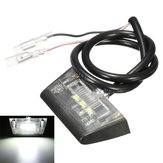 12V 3 LED Number License Rear Plate Light For Motorcycle Quad Bike E-marked