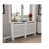 KCASA Radiator Cover Cabinet Living Room Storage Rack Shelf White MDF