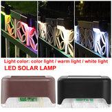 Solarbetriebene LED Pfad Landschaftsmontage Outdoor Garten Treppe Zaun Lampe