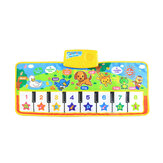 Musical Kid Piano Baby Crawl Mat Animal Animal Music Soft Kick Toy 5 trybów