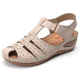 LOSTISY Lightweight Rivet Gladiator Hook Loop Soft Sandals