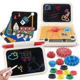 2-in-1 fai da te LCD tavolo da disegno tavoletta plug-in multifunzione tavolo da scrittura a mano 270 gradi pieghevole giocattolo per bambini