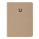 Jordan&Judy JJ-YD0032 Linen Hard Cover Notebook Business Journal Freenotes Diary Notepad Letter U Notebook For Taking Notes Drawing Painting Office School Supplies Stationery Gifts