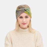 النساء التعادل مصبوغ عبر غطاء الرأس مطاطا الرياضة في الهواء الطلق واسعة حافة الشعر حزام عقال