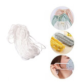 3mm Round Shape White Mask Ear Strap Elastic Band Cover Rope for Face Decoration