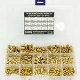 Suleve MXBN11 420Pcs M2 M3 M4 M5 Metric Female Thread Brass Knurled Nut Threaded Insert Embedment Nuts Assortment Kit