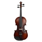 AstonVillas Matte Basswood 4/4子供のバイオリン初心者のためのバイオリン