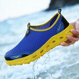 ağ İçinde Rahat Spor Ayakkabıları Hafif Oymak