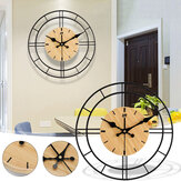 30*30cm Clear Wide Large Wood Wall Clock For Bedroom Living Room Decoration