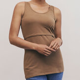 Summer Clothing Solid Color Sleeveless Nursing Tank Tops For Women