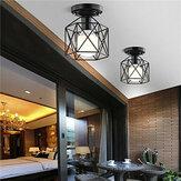 الصناعية خمر قفص معدني قلادة مصباح الماس شكل معدن ضوء السقف ل بار مطبخ ac110v