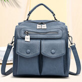 Women Casual Solid Crossbody Bag Backpack Shoulder Bag