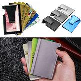 PerjalananLuarAnti-pencurianLogamSlimKartu Kredit Pemegang RFID Memblokir Dompet Uang Klip Dompet