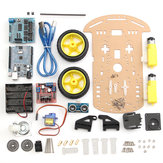 3Pcs/Pack 2WD Ultrasonic Smart Robot Car Chassis Tracking Car DIY Kit For
