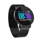 Bakeey T5 Ultra Fino Design Smart Watch Dynamic Coração Monitor de Taxa Relógio de Negócios em Aço Completo