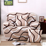 Creative Chair Covers Seater Textile Spandex Strench Flexible Printed Elastic Sofa Couch Cover Furniture Protector With Two Pillow Cases