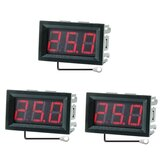 3Pcs 0.56 Inch Mini Digital LCD Indoor Convenient Temperature Sensor Meter Monitor Thermometer with 1M Cable -50-120℃ DC 5-12V