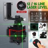 4D 12/16 Line Green Light Laser Level Digital Self Leveling 360° Rotary Measure
