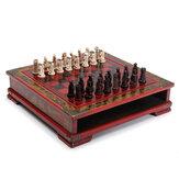32Pcs / Set樹脂中国のチェスとコーヒーの木製テーブルヴィンテージグッズギフト