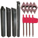 4 piezas S10K-SDUCR07/SDJCR/SDJCL/SDNCN1010H07 Torneado herramienta Juego de soportes con 4 piezas DCMT0702 inserciones