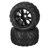DHK Hobby 8384-001 Neumático del neumático de la rueda borde completo 2pcs 1/8 8384 Zombie 8E RC Coche Parte