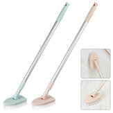 Triangle Floor Brush Retractable Bathroom Floor Bristle Tile Long Handle Brushes for Bathtub Cleaning Brush
