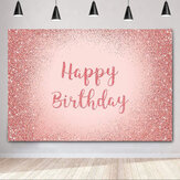 Birthday Photography Background Pink Gold Glitter Backdrop for Adult Women Birthday Party Decorations Photo Booth Backdrops