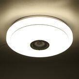 2.4GHz bluetooth LED Luz de techo 256 RGB Música Speeker Regulable Lámpara + Control remoto