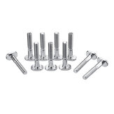 Drillpro 10pcs M6x40mm T-Nut T Sliding Screws For  30 Series Miter Track Woodworking Tool