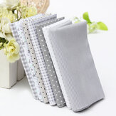 7Pcs Square Fabric Bundle Cotton Patchwork Sewing Quilting Tissues Cloth DIY Fabric Crafts