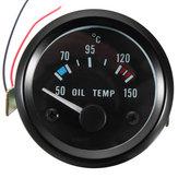 2inch 52mm 12V Uniwersalny 50-150 ° C Miernik temperatury Temp Temperatura oleju na motocykl samochodowy