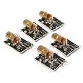 5 unidades KY-008 5V 3 pinos 650nm Transmissor Ponto Diodo Cabeça de Cobre Vermelho Laser Módulo AVR PIC DIY