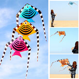 1.2M Swallow Fish Shape Flying Kites With Tail Children Summer Outdoor Fun Sport Games Kids Toys